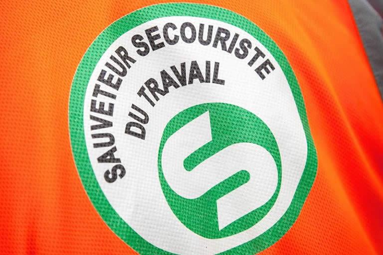 Logo sauveteur secouriste du travail