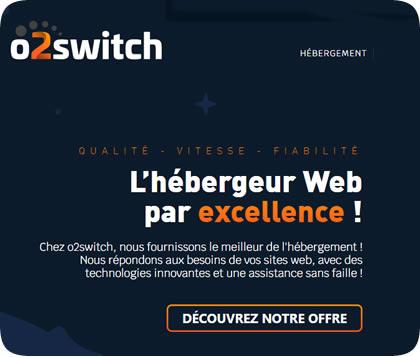 apercu page d'accueil de o2switch