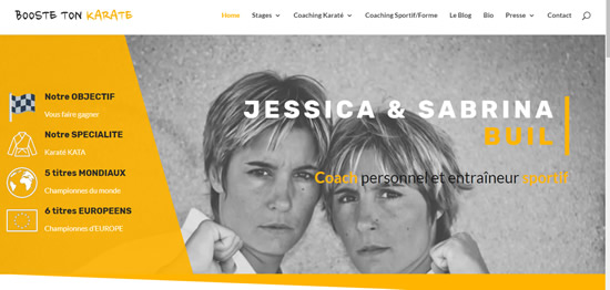en tete site internet booste ton karate.com