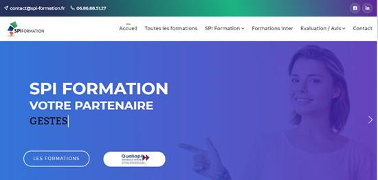 entete site internet spi-formation-securite.com
