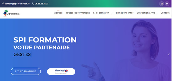 page accueil spi-formation-securite.fr