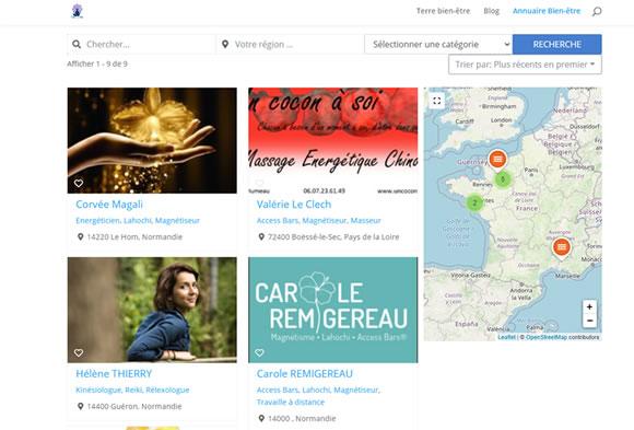 Visuel annuaire sur le site terrebienetre.fr